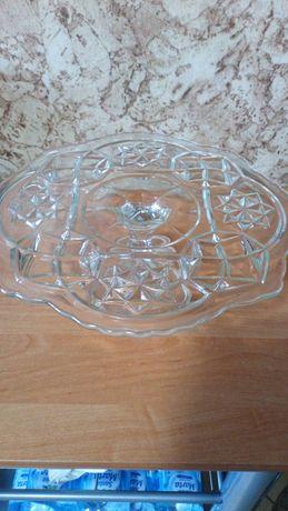 Patera szklana na ciasto