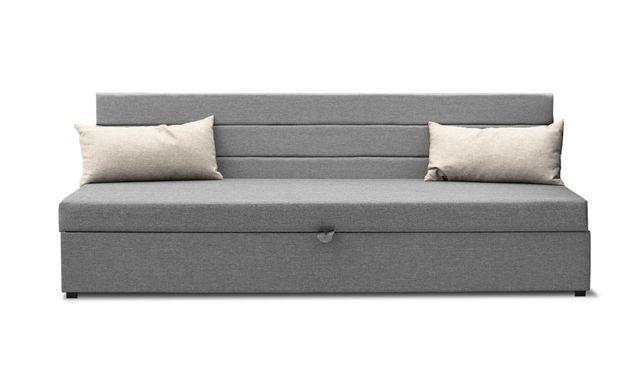 Tapczan , łóżko jednoosobowe pojemnik oparcie poduszki w komplecie