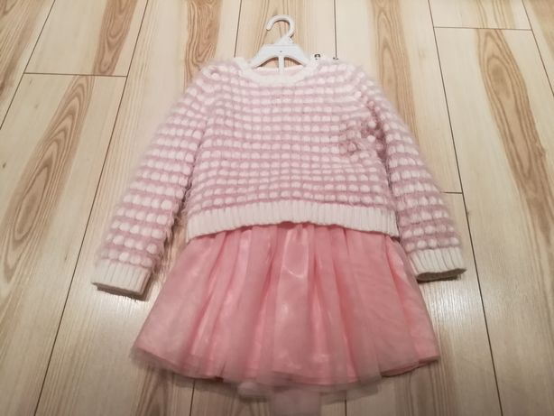 Tiulowa spódnica plus elegancki sweter, 110