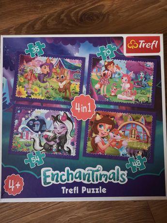 Puzzle trefl Enchantimals 4w 1  od +4