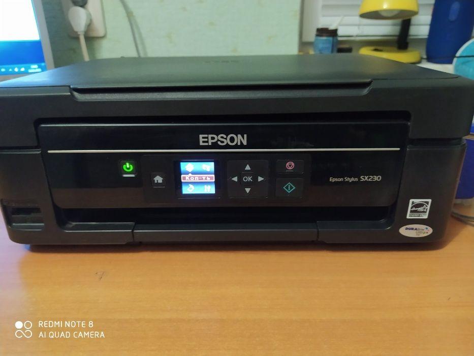 Принтер (МФУ)EPSON SX230 з СНПЧ робочий Теофиполь - изображение 1