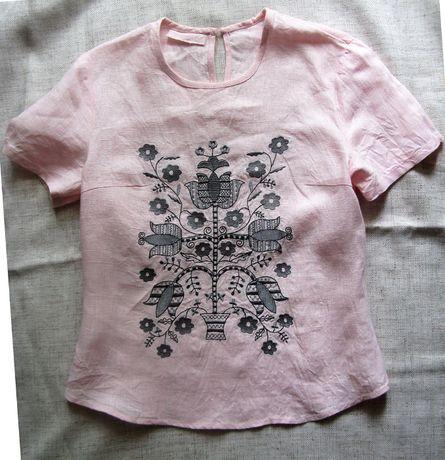 Блуза-вышиванка, р-р С, 100% лен