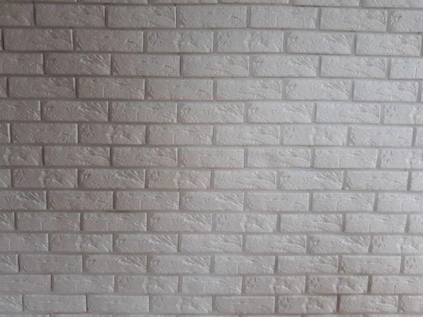 Płytki gipsowe dekoracyjne cegiełka, cegła z fugą, biała