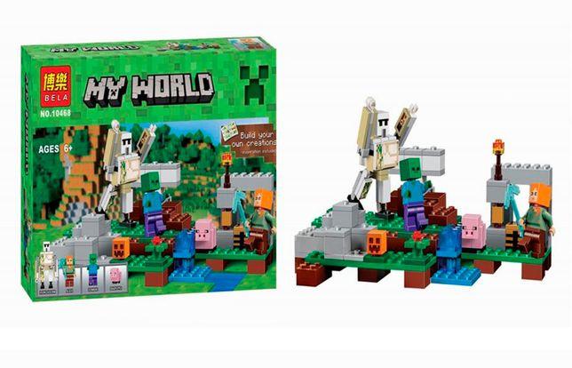 """Конструктор Bela Minecraft 10468 """"Железный голем"""", 220 элементов, лего"""