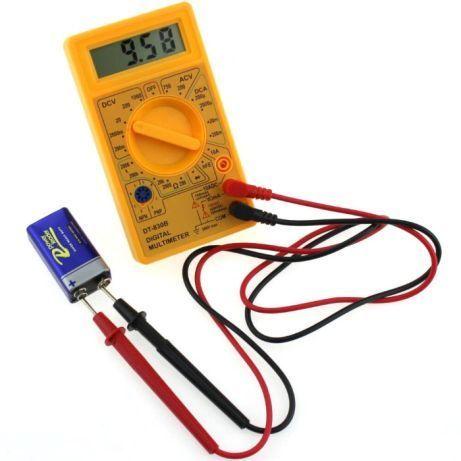 Multímetro Voltímetro Amperímetro Medidor digital LCD
