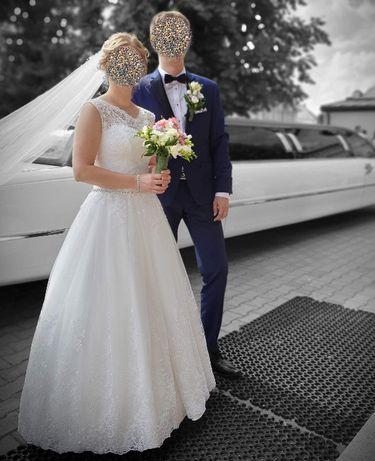Suknia Ślubna 38 koronka