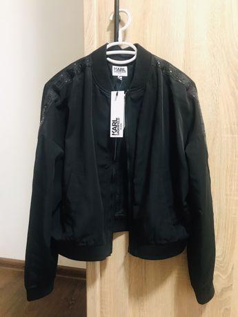 Czarna kurtka bomberka Karl Lagerfeld XS 34