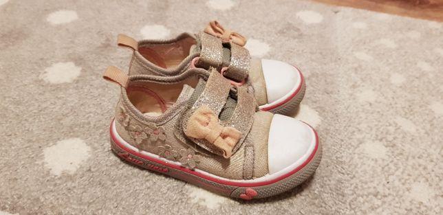 Trampki krótkie buty dla dziewczynki Smyk rozm. 23 - 14.5 cm brokat a