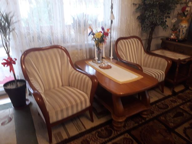 Stylowy komplet Kanapa +dwa fotele