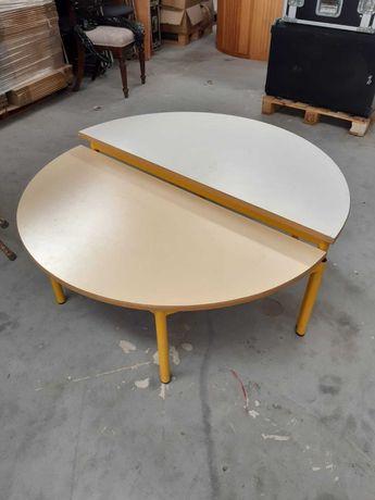 Mesa amarela redonda