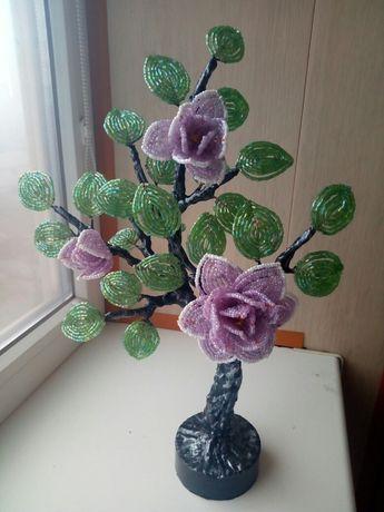 Цветы из бисера.Цветочное.