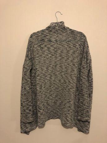 Sweter / narzuta / kardigan biało-szary L Reserved