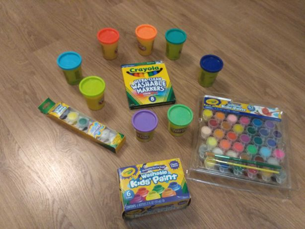 Washable Crayola краски, Play doh 7 цветов