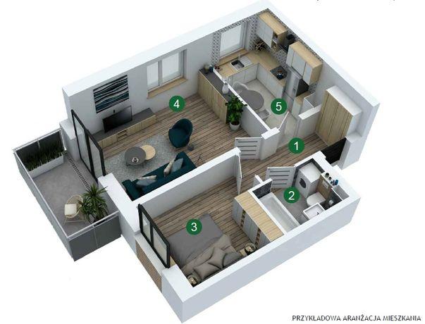 REZERWACJA. Wynajmę nowe mieszkanie z garażem O.Z.W ul.Sielska