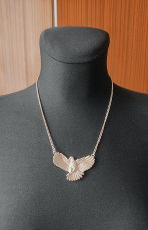 Łańcuszek naszyjnik z orłem kolor zloty