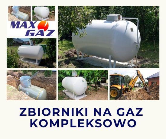 ZBIORNI na GAZ 2700, 4850, własny, 6400, MONTAŻ, butla lpg, płynny