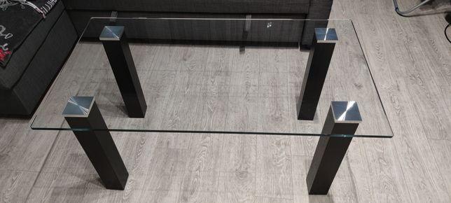 Szklana ława , stolik Wenge 110x60