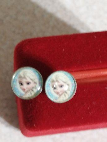 Kolczyki sztyfty Elsa Frozen stal chirurgiczna
