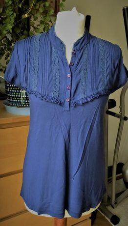 H&M MAMA- bluzka ciążowa bawełna, koronka - M/L