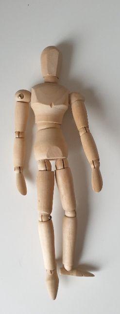 Drewniany model człowieka do rysowania