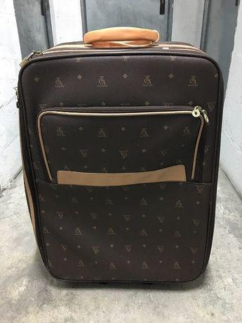 Mala grande viagem padrão tipo Louis Vuitton