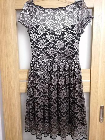 Sukienka czarno srebrna Reserved 38/M