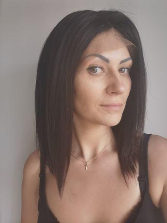 Peruka z włosów ludzkich NATURALNA peruka