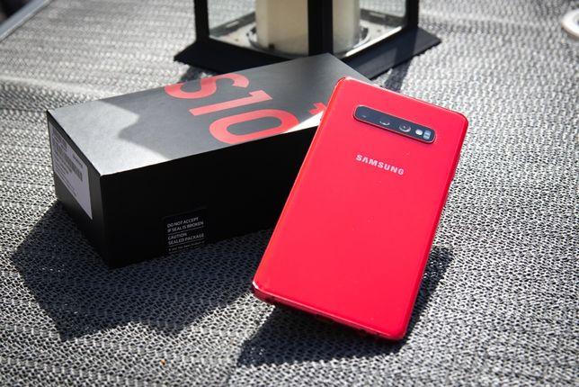 Samsung S10+ Plus Cardinal Red / Czerwony 128GB GWARANCJA IDEALNY