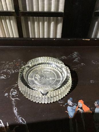 Cinzeiro vidro ponta diamante Sociedade Portuguesa Seguros 1900