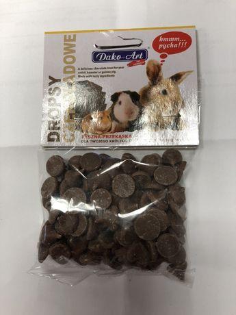 Dropsy czekoladowe dla gryzoni krolika chomika świnki szczura 75g