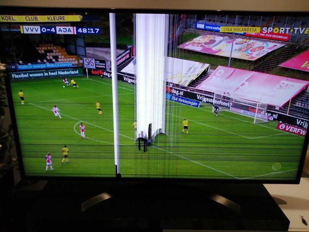 """Smart Tv LG 65"""" tela avariada para peças"""