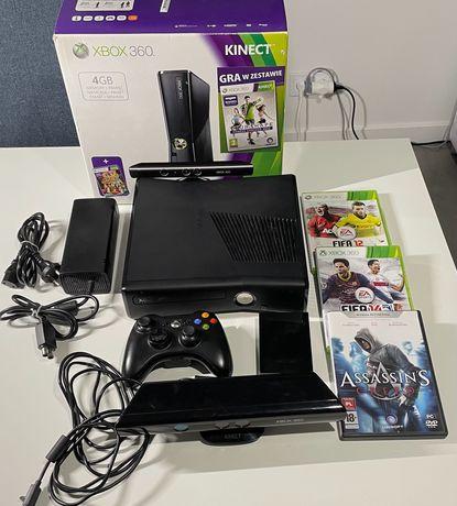 Xbox360 + gry + dysk 250GB + kinect