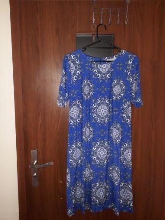 sukienka damska niebieska rozmiar L 90 cm długość