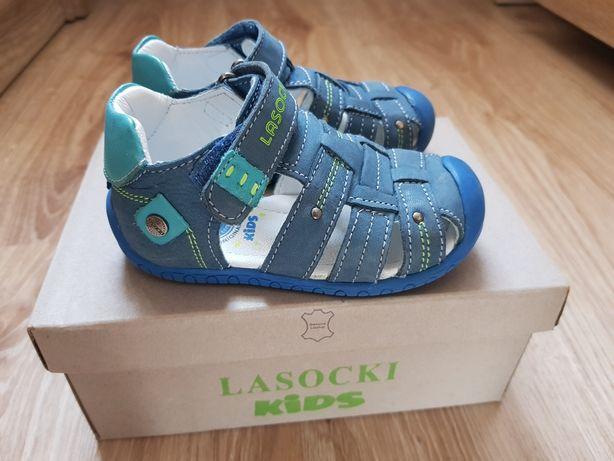 Lasocki kids sandały niemowlęce sandałki chłopięce niebieskie 20