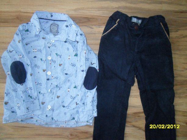 komplet elegancki zestaw spodnie koszula święta mikołaj 92 + muszka