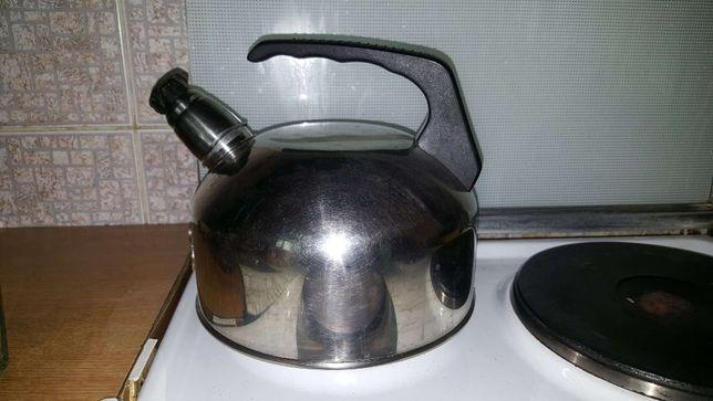 Чайник Нержавейка со свистком СССР 2.5 или 3 литра