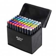 Маркеры TOUCH Sketch Marker Black 60 шт разноцветные + сумка