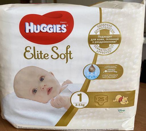 Підгузники Huggies Elite soft 1 -25шт + 11шт