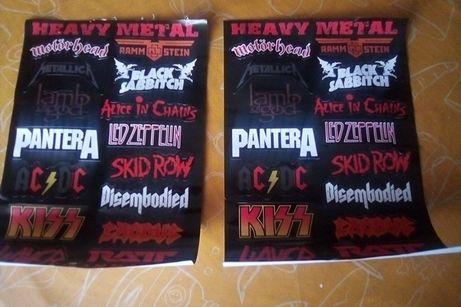 folhas stickers p bike moto helmet e rock/heavy