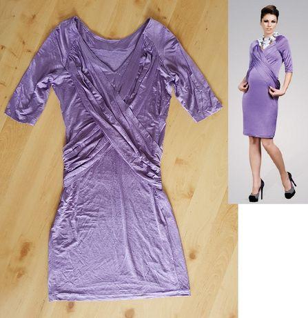 fioletowa ciazowa sukienka Happy mum Happymum r. M do karmienia Nowa