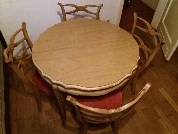 Stylowy zestaw stół z 4 krzesłami