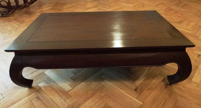 Kolonialny stół stolik kawowy drewniany opium drewno egzotyczne