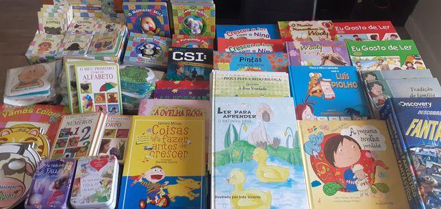 Oportunidade -  90 livros infanto/juv (novos) para despachar-200€