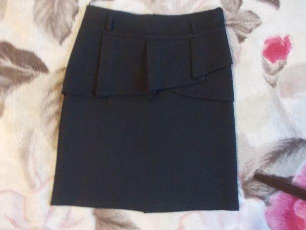 Юбка школьная черная, 32 размер