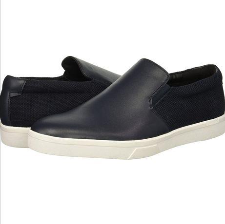 Кожаные мокасины туфли слипоны Calvin Klein Размер 43 Оригинал Кляйн