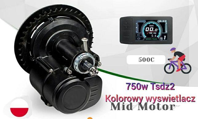 Silnik rower elektryczny kolorowy wyswietlacz TSDZ2 48v 750W Nowy