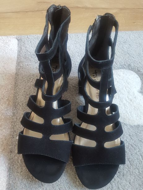 Nowe skórzane sandały Tamaris rozmiar 36