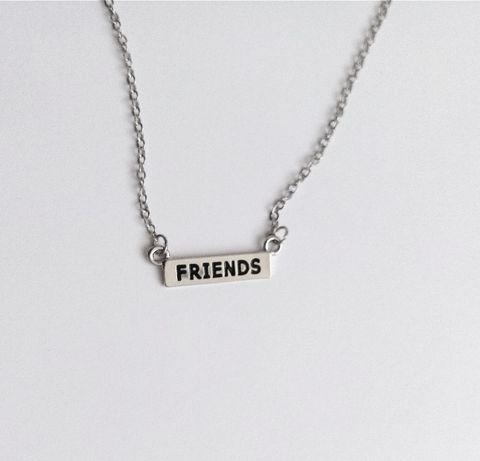 Naszyjnik łańcuszek srebrny Friends