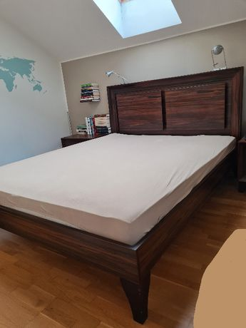 Meble do sypialni VOX łóżko, szafka nocna, toaletka