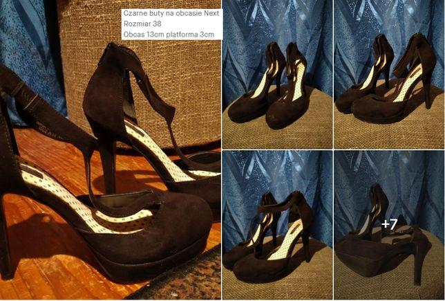Czarne buty na obcasie Next Rozmiar 38